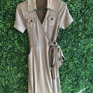 Straps dress brown